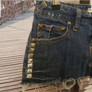 Free People Shorts - Free People studded jean denim shorts 27